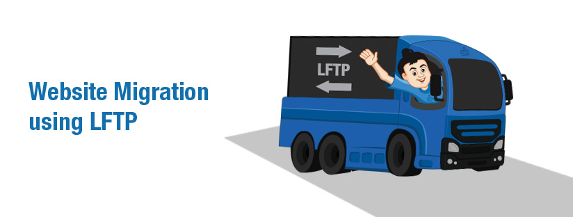 How To mirror or migrate a website from one server to another using lftp