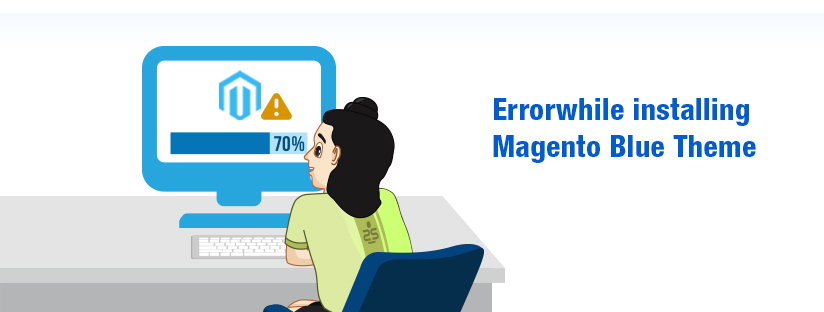 Error while installing Magento Blue theme.
