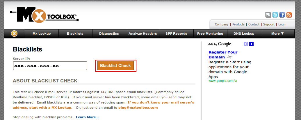 Blacklisted ? Switch your Mail Server IP