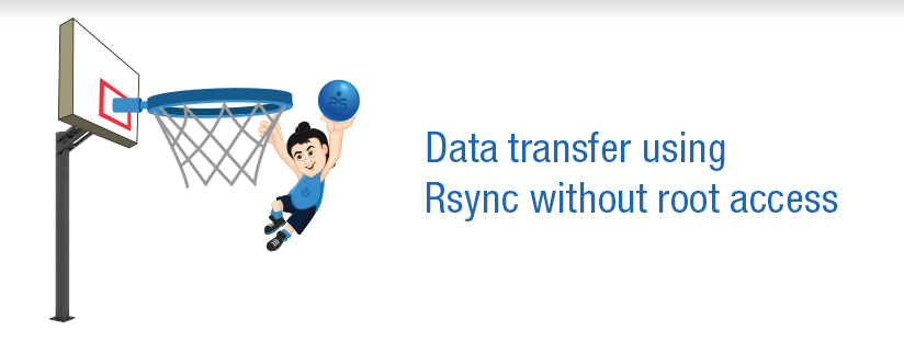 How to do data transfer using Rsync without root access