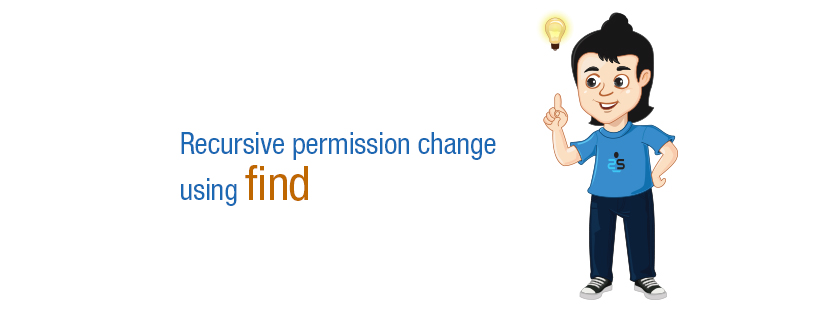 Recursive  permission change using find