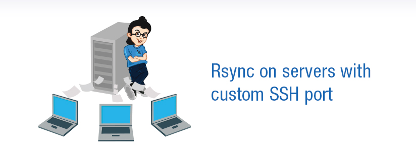 Rsync on servers with custom SSH port