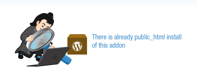 WP installation :: There is already public_html install of this addon