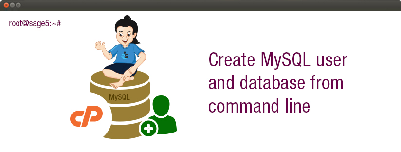 How to create MySQL user and database from command line of a cPanel server