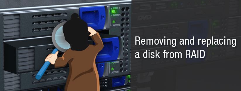 Removing and replacing a disk from software RAID