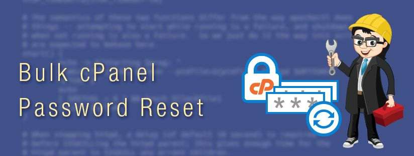 Change all user account passwords in a cPanel server