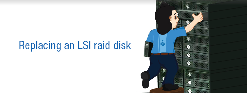 Replacing an LSI raid disk