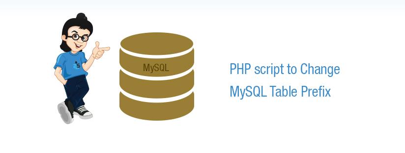 PHP script to Change MySQL Table Prefix