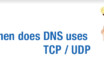 When does DNS use TCP / UDP?