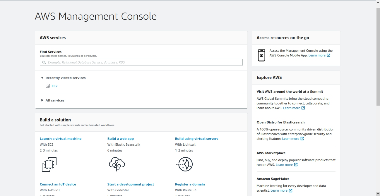 Creating an AWS instance